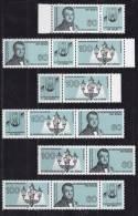 Bund Zusammendruck  1537 - 1538  WZd 9 - WZd 14 ** Postfrisch Weltgaskongress - Zusammendrucke
