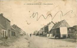 (CN) NEW CPA 62 SAINS-EN-GOHELLE *** ROUTE NATIONALE *** - France