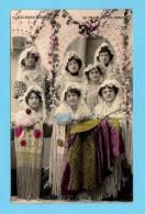ESPANHA/ESPANA Tarjeta Postal. ESCENAS ESPANOLAS UN PALCO EN LOS TOROS - Real Photo Typical Costumes Old Postcard - Vestuarios