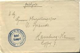 Feldpost 1.WK  ZENTRALPOLIZEISTELLE D. OB. OST ABSCHNITT PONIEWIEC - Deutschland