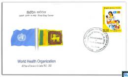 Sri Lanka Stamps 2012, World Health Organization, WHO, FDC - Sri Lanka (Ceylon) (1948-...)