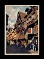 14 - LISIEUX - La Rue Des Fèves - Terre De France - I. K. 93 - Lisieux