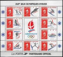 FRANCE:  BLOC N°14 Jeux Olympiques Albertville 1991 - Mint/Hinged