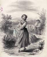 Partition Avec Superbe Gravure: Fauvinette, Villanelle, Paroles De Jules Bertrand, Musique D'Etienne Arnaud. - Partitions Musicales Anciennes