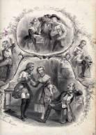 Partition Avec Superbe Gravure:JeanquiPleure Et JeanquiRit,Istoriette,Paroles De Jules Bertrand,Musique D'Etienne Arnaud - Scores & Partitions
