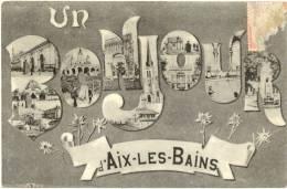73/CPA - Un Bonjour D'Aix Les Bains - Aix Les Bains