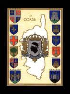 20 - Carte Département - Historique Des Armes De La Corse - Blasons - Robert LOUIS - France