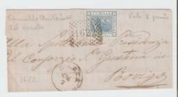 Lettera     Badia – Rovigo 1873 ,  Annullo Numerale A Punti N.  1622 - Storia Postale