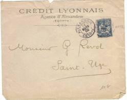 L-COL4 - ALEXANDRIE Devant De Lettre Du Crédit Lyonnais De 1906