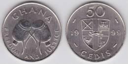 GHANA  50  CEDIS  1.999 Niquel-Acero  KM#31a  SC/UNC   T-DL-10.187 - Ghana