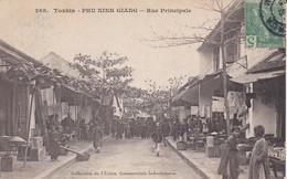 ASIE---TONKIN---phu-ningh Giang--rue Principale--voir 2 Scans - Viêt-Nam