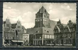 "S/w Photo AK DDR,GDR Greifswald 1960  ""Greifswald-Platz Der Freundschaft,belebt  "" 1 AK Used,bef. - Greifswald"