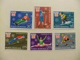RUMANIA 1976  YV  2937-2942 ** JUEGOS OLIMPICOS EN INNSBRUCK - Invierno 1976: Innsbruck