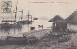 """ASIE---TONKIN----Hongay Le """"vauban"""" En Rade De Port Courbet--voir 2 Scans - Viêt-Nam"""