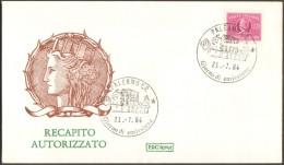 Fdc Roma 1984 Recapito Autorizzato Ann Palermo No Venetia - 6. 1946-.. Republic