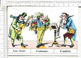 """CARICATURES   -  Extrait De  """" L'Illustre Famille Des Jean """" -  Jean Chante - J'Embaume - J'Embête - Arts"""