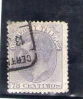 SPAIN 1882 O - 1875-1882 Kingdom: Alphonse XII