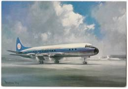 TRANSPORT AIRPLANE KLM'S LOCKHEED PROP-JET ELECTRA KLM DUTCH BIG CARD OLD POSTCARD - 1946-....: Moderne