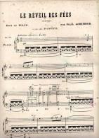 Partition Très Ancienne: Le Réveil Des Fées, Orientale, Pour Le Piano Par Félix Godefroid. - Scores & Partitions