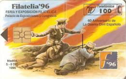 P-229 TARJETA FILATELIA´96 DE TIRADA 6000 NUEVA-MINT  (GUERRA CIVIL-CIVIL WAR) - España