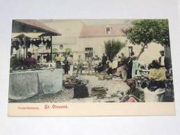 Carte Postale Ancienne : SAINT-VINCENT : Fruto Mercado - Saint-Vincent-et-les Grenadines