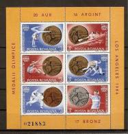 Romania 1984 MNH / Olympic Medals / 2 Block - Sommer 1984: Los Angeles