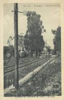 PORTUGAL - VILA NOVA DA BARQUINHA -ESTACAO DO CAMINHO DE FERRO - 1910 PC - Santarem