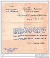 SERVICE DES AFFAIRES MILITAIRES - ENVELOPPE/ LETTRE - PARIS 27 OCTOBRE 1944 .Soins Aux Victimes De Guerre - Altri