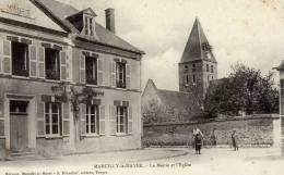 10 - -MARCILLY-le HAYER -Mairie Et Eglise-animée - Marcilly