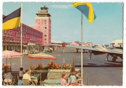 TRANSPORT AERODROME  RIEM MUNCHEN GERMANY BIG CARD OLD POSTCARD - Aerodrome