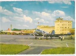 TRANSPORT AERODROME DUSSELDORF GERMANY BIG CARD OLD POSTCARD - Aerodrome