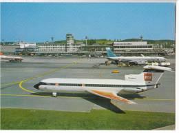 TRANSPORT AERODROME KLOTEN ZURICH SWITZERLAND BIG CARD OLD POSTCARD - Aerodrome