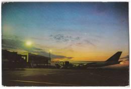 TRANSPORT AERODROME BEOGRAD BOEING 474 YUGOSLAVIA BIG CARD OLD POSTCARD - Aerodrome