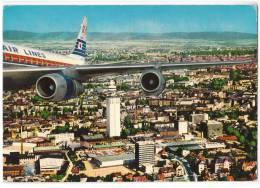 TRANSPORT AERODROME FRANKFURT AM MAIN CITY AND HENNINGER-TURM GERMANY BIG CARD OLD POSTCARD - Aerodrome