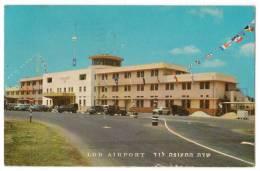 TRANSPORT AERODROME LOD ISRAEL OLD POSTCARD 1964. - Aerodrome