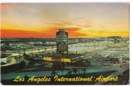 TRANSPORT AERODROME LOS ANGELES USA OLD POSTCARD 1974. - Aerodrome