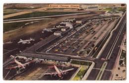 TRANSPORT AERODROME CHICAGO ILLINOS USA OLD POSTCARD 1955. - Aerodrome