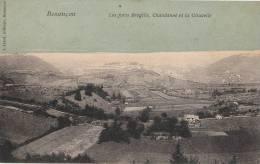 25  BESANCON  Belle CPA Artistique  Vue Sur Les FORTS BREGILLE  CHAUDANNE Et La CITADELLE à Travers CHAMPS 1906 - Besancon