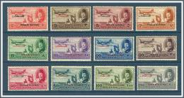 Egypt - 1948 - ( King Farouk, Delta Dam & DC-3 Plane - Overprinted With Palestine ) - Complete Set - MH (*) - Poste Aérienne