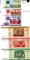 BELARUS Set Of 6 Different **UNC** Banknotes - Bankbiljetten