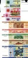 BELARUS Set Of 8 Different **UNC** Banknotes - Bankbiljetten