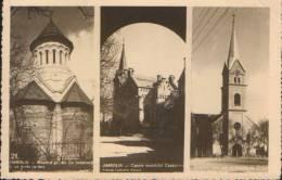 Romania- Postcard 1936 -Jimbolia-Collage Of Images With Churches-unused,2/scans. - Romania