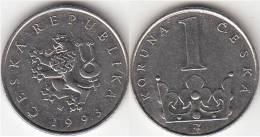 REPUBBLICA CEKA - 1 KORUNA - 1993 - Circolata - Repubblica Ceca