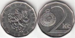 REPUBBLICA CEKA - 2 KORUNA - 1998 - Circolata - Tchéquie