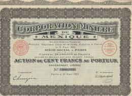 Corporation Minière Du MEXIQUE - Actions & Titres