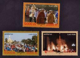 Laos 2007 MNH **   That Luang Festival   Scott 1718N-1718P  Y & T 1667 - 1669  Michel 2044 - 2046 - Laos