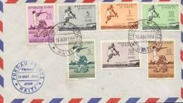 Haiti Año 1958 Yvert  379a381 124a127 Sobre FDC Matasellos Varios Port Au Prince. Record De Sylvio Cator - Haïti