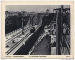 Gravure 27 X 21  - Le Canal De PANAMA, Les Quais De BALBOA - Vieux Papiers