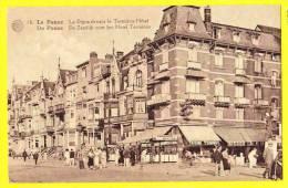 * De Panne - La Panne (Kust) * (Albert, Nr 18) La Digue Devant Le Terminus Hotel, Animée, Café, Taverne, CPA - De Panne