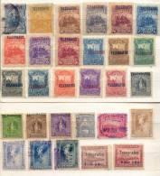 Nicaragua  Año 1891-1907 Yvert  Varios Lote 29 Sellos Telegrafos - Nicaragua